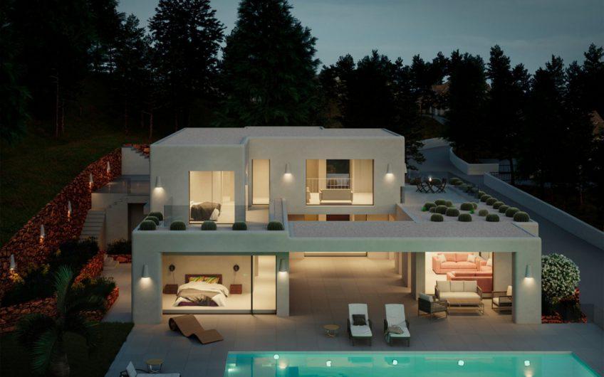 Luxe moderne ibiza villa te koop el Portet Moraira